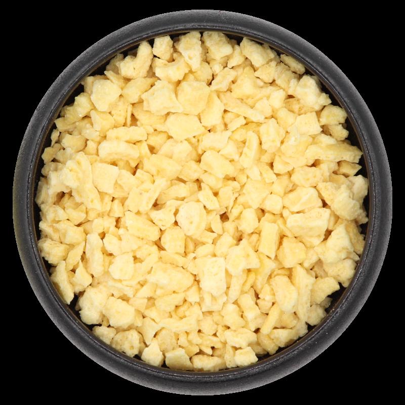 Zitronenstücke, gefriergetrocknet